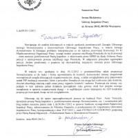 Pismo do GIP z 9.05.2013r