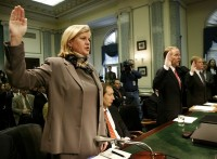 SKILLING AND WATKINS SWORN IN BEFORE SENATE HEARING ON ENRON.